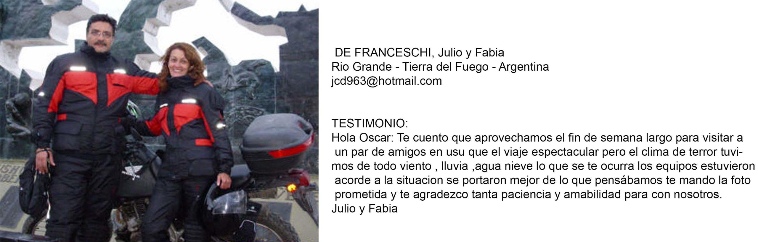 Testimonio Franceschi